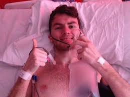 Stephen Sutton picture with thumb raised