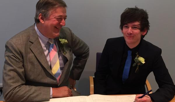 Stephen Fry and husband