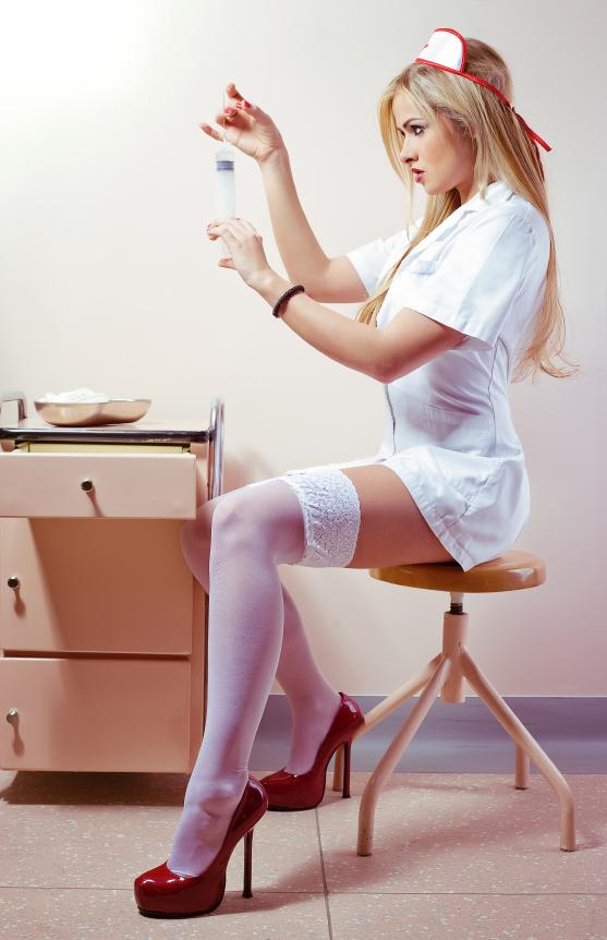 Медсестра фото в колготках