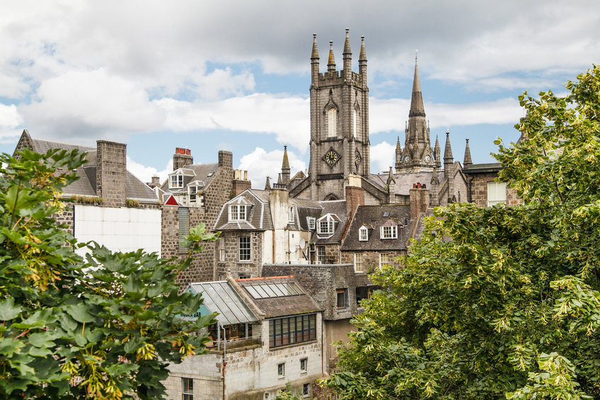 Aberdeen city centre view