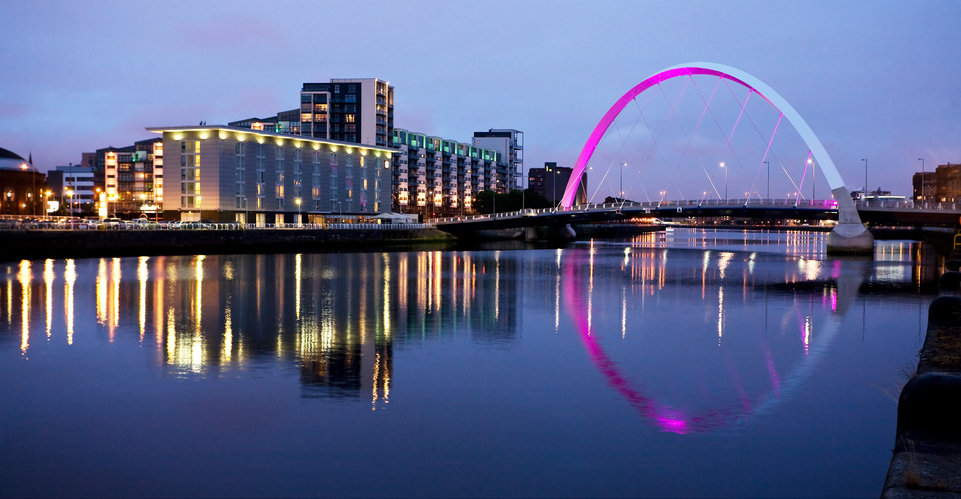 The Clyde at Night, one of the places you can visit with the Glasgow escorts