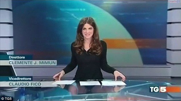 Italian news anchor