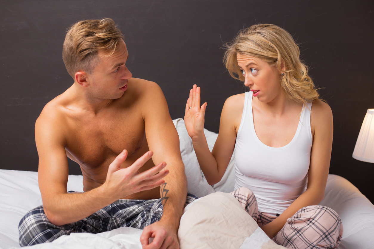 Man trying to explain something to his woman