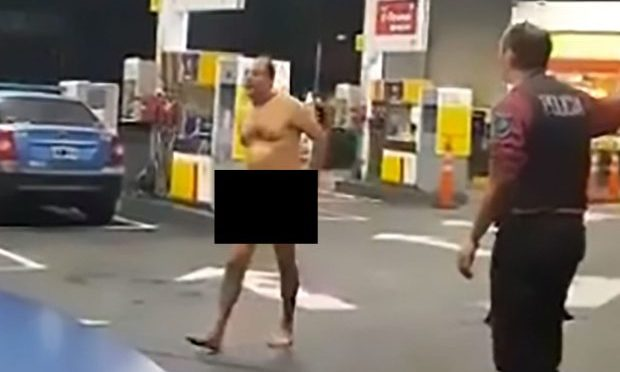 Panicked Man Runs Round Petrol Station With Sex Toy Stuck in Ass (Video)
