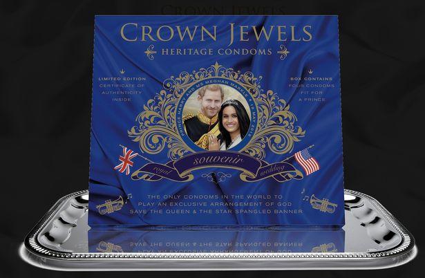 Royal wedding condom packet