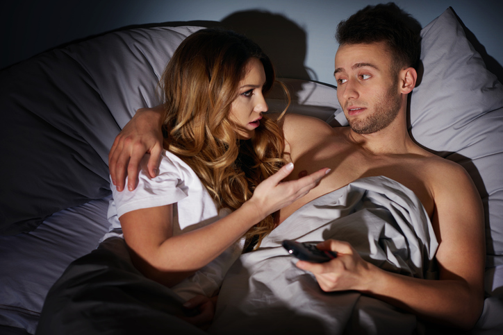 Couple having arguments in the bedroom
