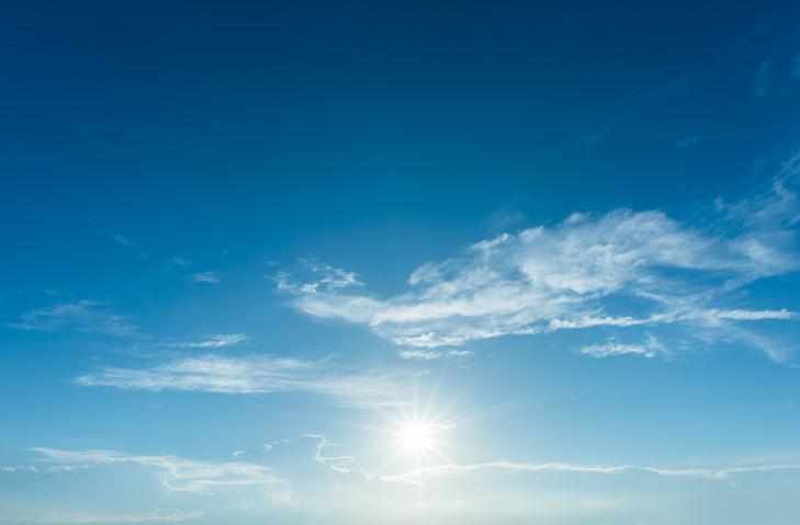 sin in a blue sky